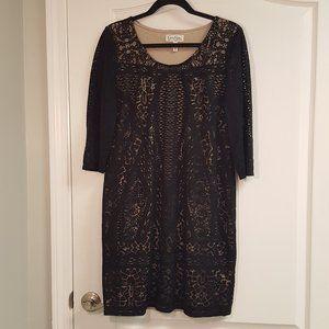 Jessica Simpson Maternity Black Lace Dress